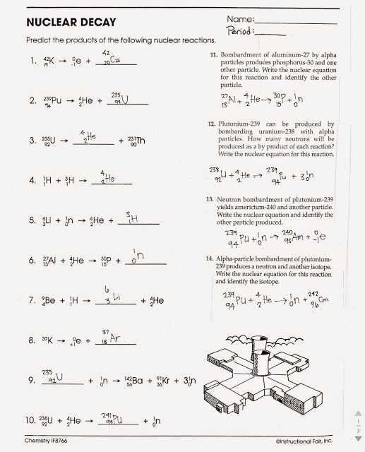 Nuclear Equations Worksheet with Answers together with Nuclear Decay Worksheet with Answers Page 34 Kidz Activities