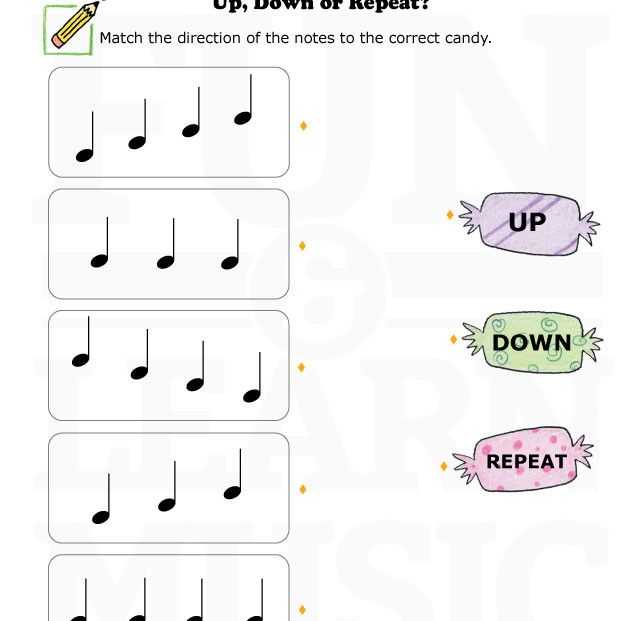 Opus Music Worksheets Along with Music Worksheets Up Down Repeat 003 Music Worksheets
