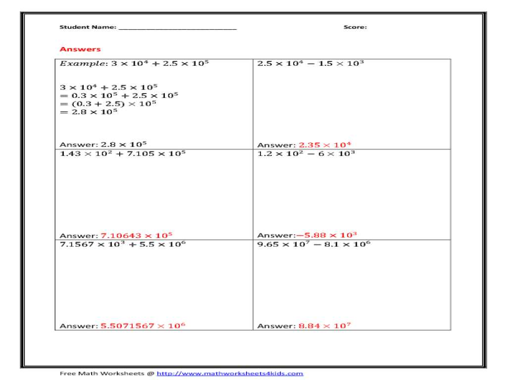 Order Of Operations with Fractions Worksheet with Kindergarten Scientific Notation Division Worksheet