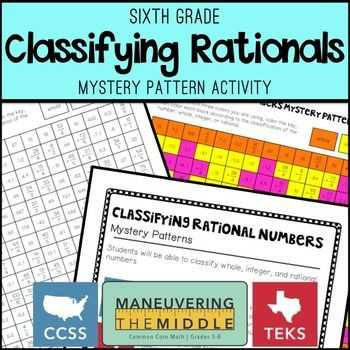 Ordering for Rational Numbers Independent Practice Worksheet Answers with Classifying Rational Numbers