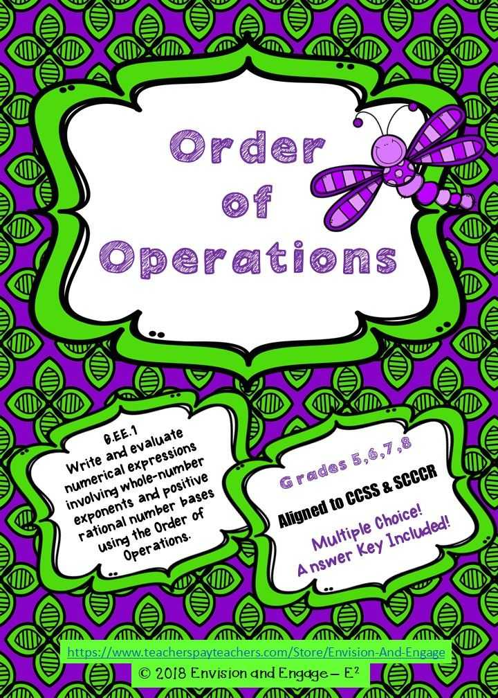Ordering for Rational Numbers Independent Practice Worksheet Answers with Do Your Students Need Extra Practice with order Of Operations I