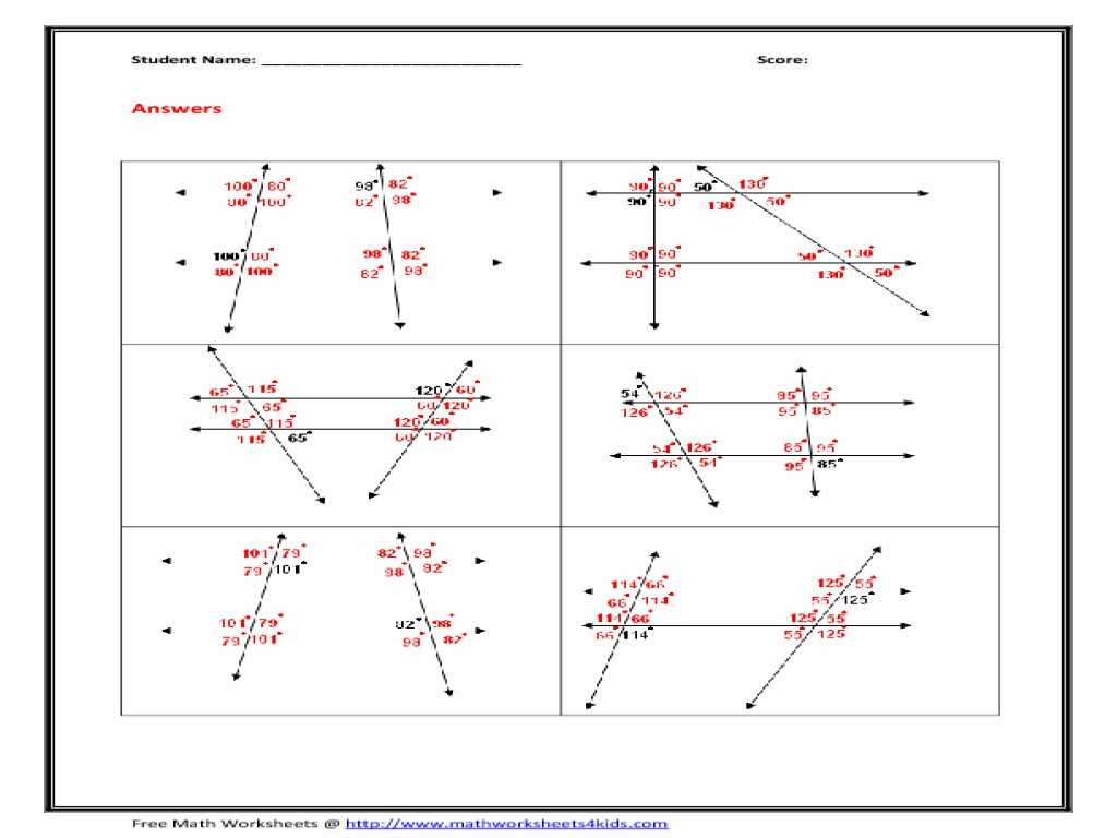 Parallel and Perpendicular Lines Worksheet Answer Key together with Geometry Parallel Lines and Transversals Worksheet Answers A