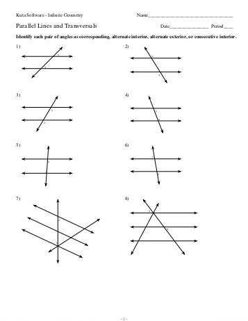 Parallel Lines Cut by A Transversal Worksheet Answer Key and Proving Lines Parallel Worksheet