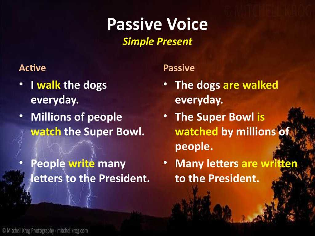 Passive Voice Worksheets as Well as Passive Voice Online Presentation