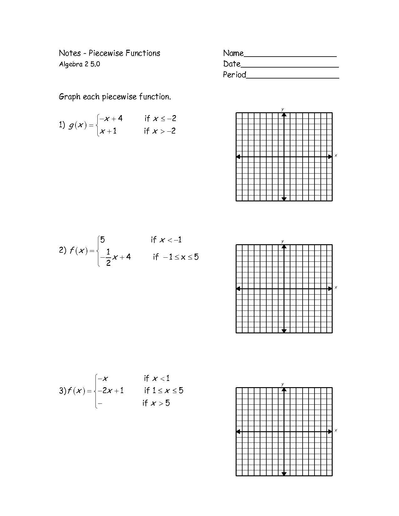 Piecewise Functions Worksheet 2 together with Graphing Piecewise Functions Worksheet Fresh Kindergarten Graphing