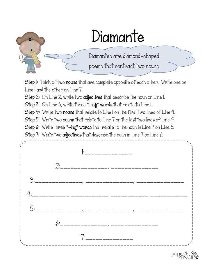 Poetry Worksheets Printable together with 155 Best Poetry Images On Pinterest