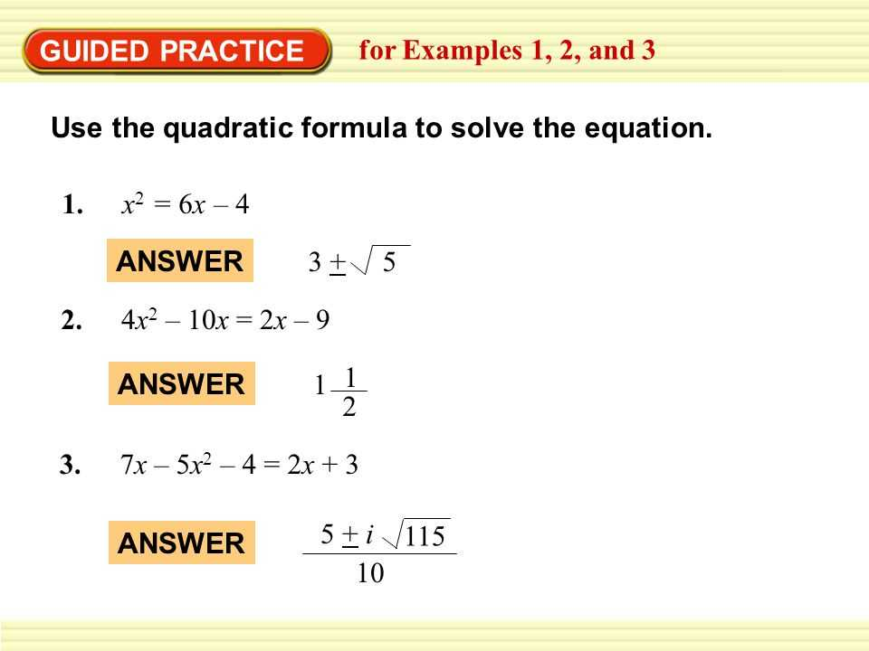 Practice 5 5 Quadratic Equations Worksheet Answers with Review Packet 1st Quarter topics Lessons Tes Teach