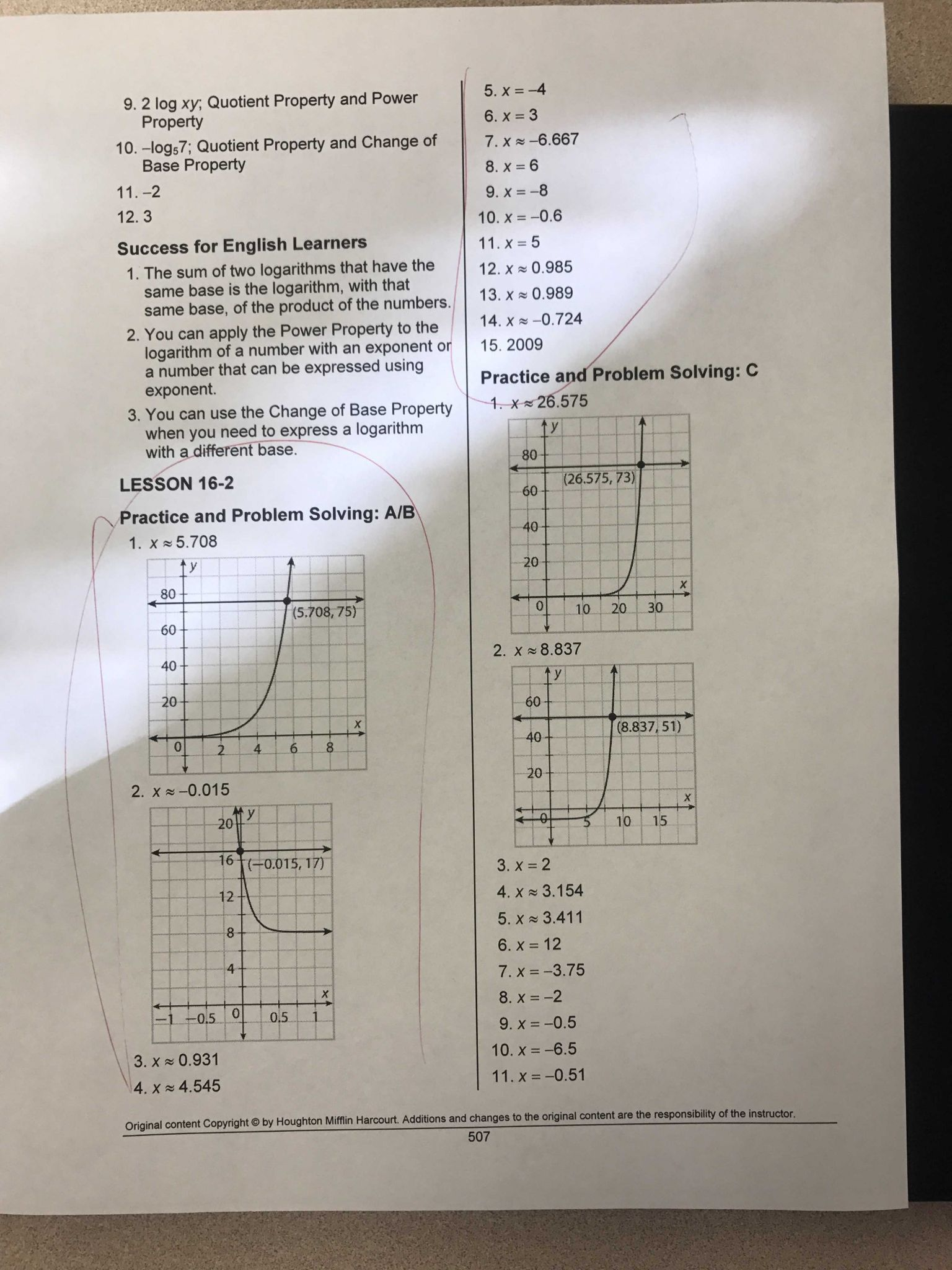 Practice Worksheet Graphing Quadratic Functions In Standard form with south Pasadena High School