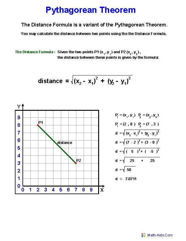 Pythagorean theorem Worksheet Answers Along with Pythagorean theorem Worksheets