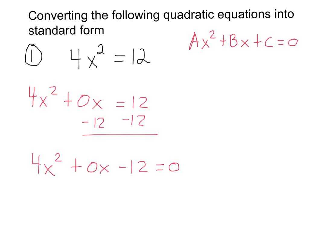 Quadratic Transformations Worksheet with Converting Quadratic Equations Into Standard form
