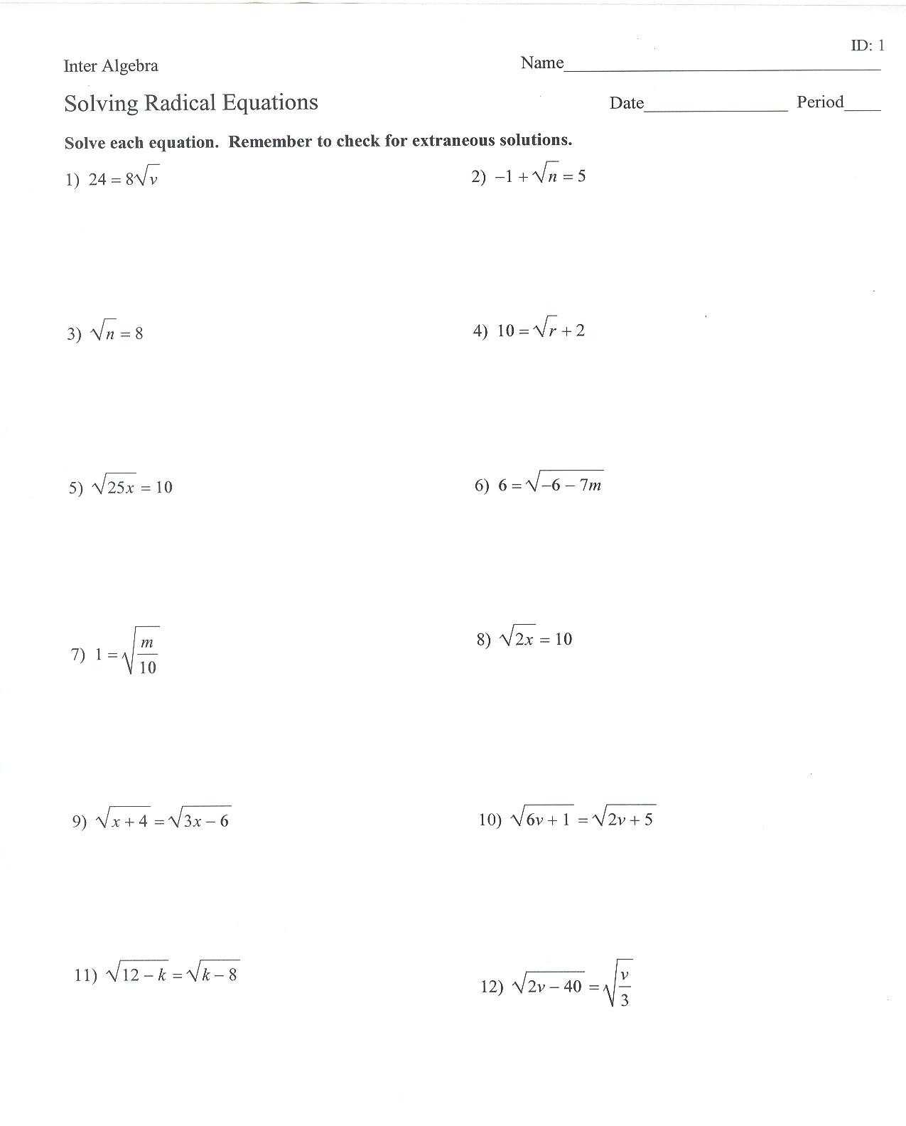 Radicals and Rational Exponents Worksheet Answers together with 36 Elegant solving Radical Equations Worksheet Answers