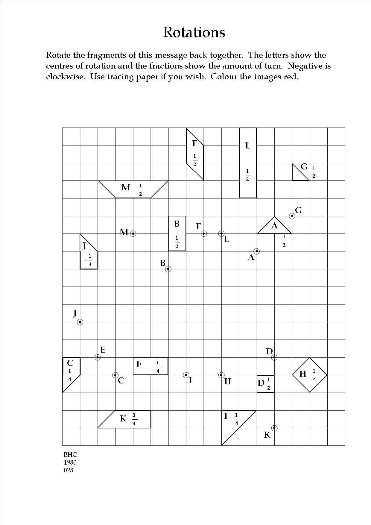 Radicals and Rational Exponents Worksheet Answers with An Exercise In Transformation Geometry Teaching
