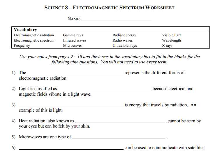 Radioactivity Worksheet Answers Along with Fresh Electromagnetic Spectrum Worksheet Beautiful Electromagnetic