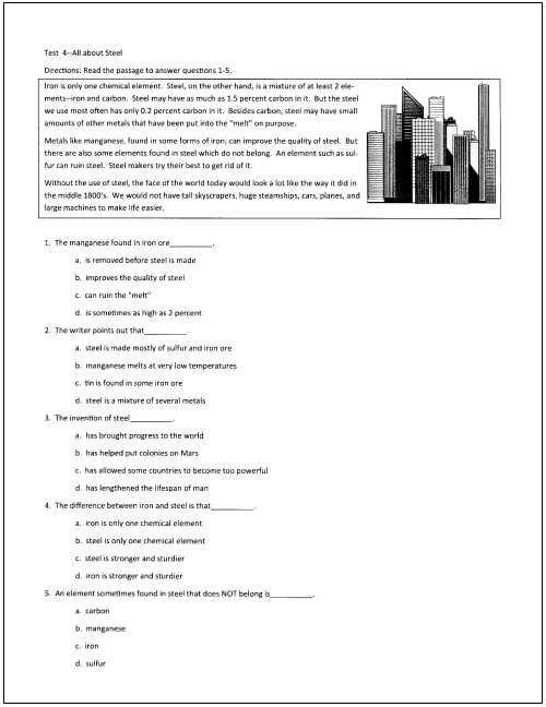 Reading Comprehension Worksheets 7th Grade as Well as 6th Grade Reading Prehension Practice Test
