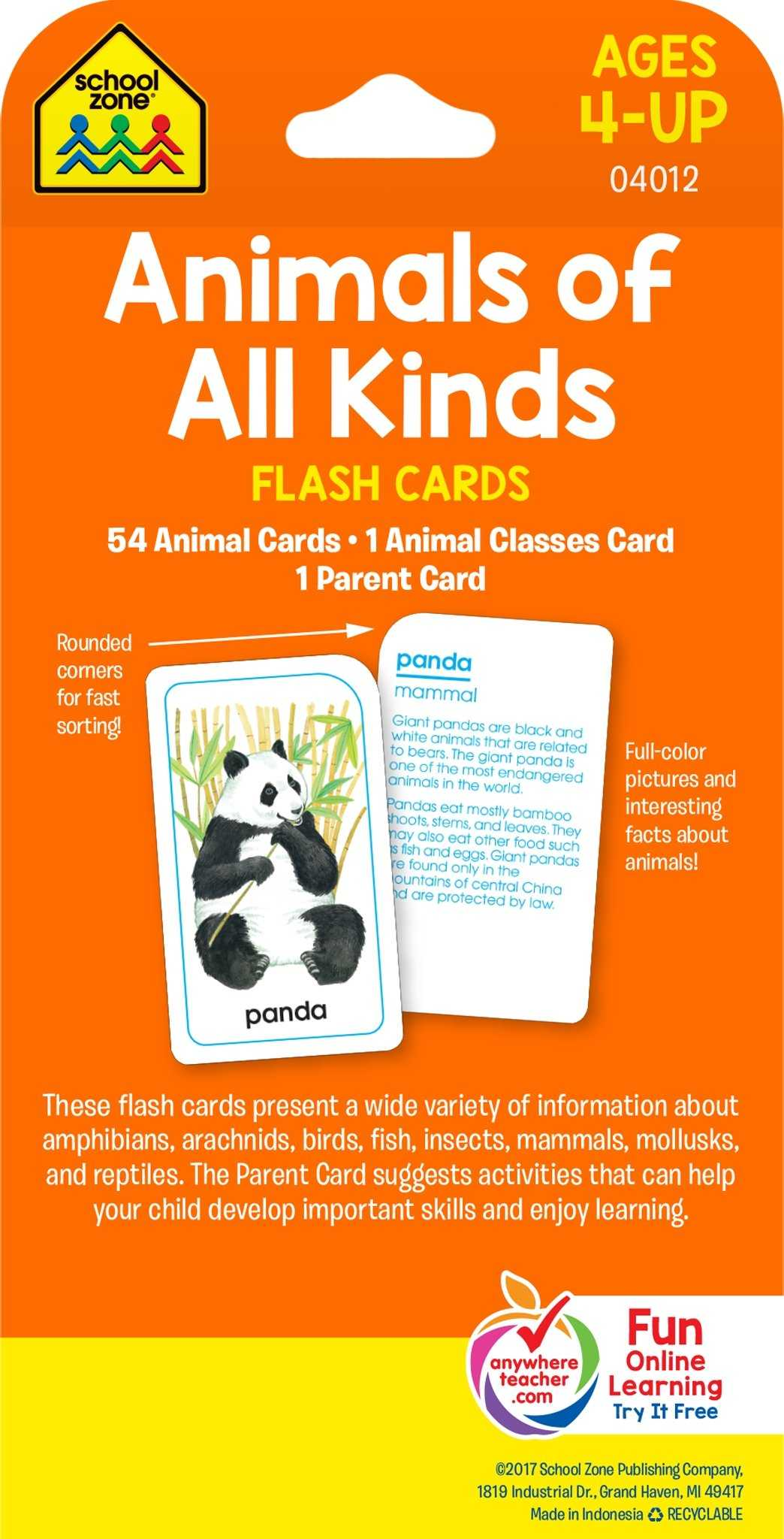 Reading Skills and Strategies Worksheet Animal Farm or School Zone Animals Of All Kinds Flash Cards Ages 4 and Up Word