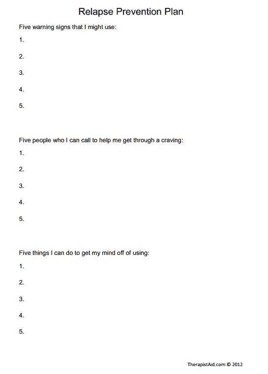 Relapse Prevention Plan Worksheet Template together with 19 Best Relapse Prevention Images On Pinterest