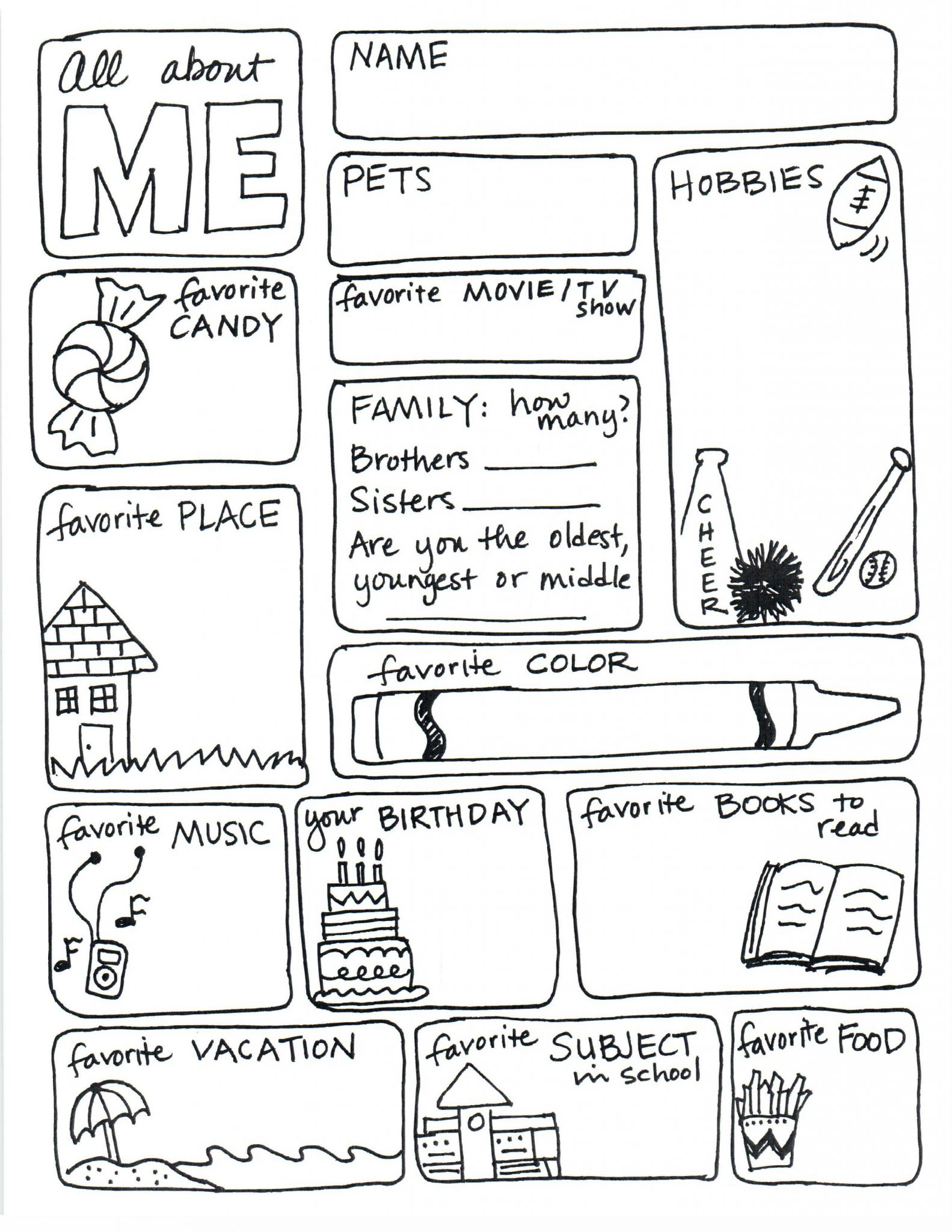 Scale Drawings Worksheet 7th Grade Also Mesmerizing All About Me Activities 4 Drawing