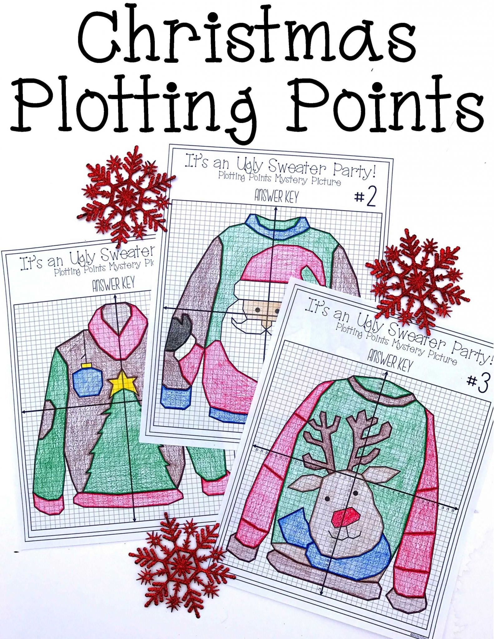 Secrets Of the Mind Worksheet Answers as Well as Christmas Math Activity Ugly Sweaters Plotting Points Mystery
