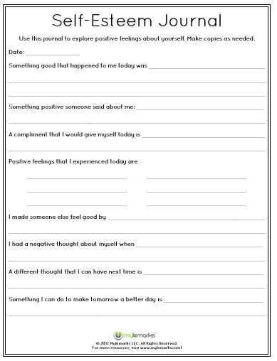 Self Love Worksheet Along with Help Develop Self Esteem In Children with This Prompting Journal