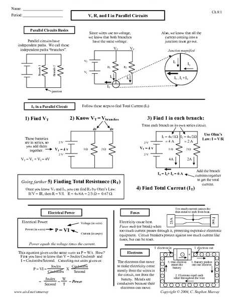 Series and Parallel Circuits Worksheet with Answers Also Write College Essay for Me