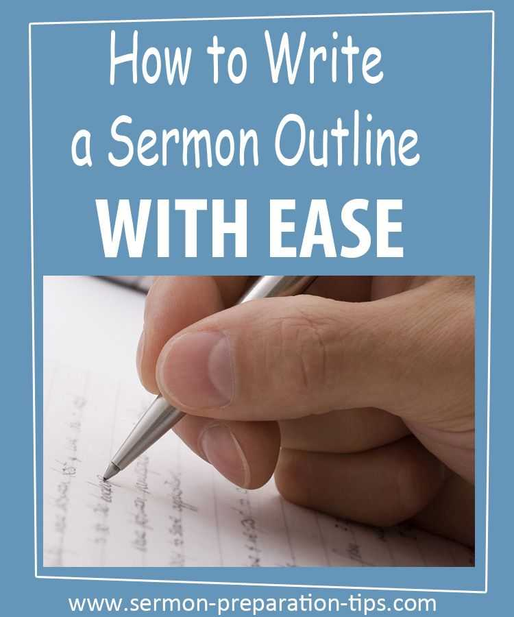 Sermon Preparation Worksheet Along with Learn to Write topical Sermon Outlines with Ease by Keeping these