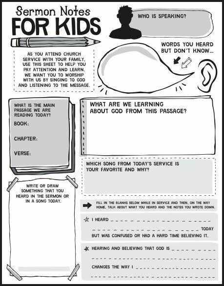 Sermon Preparation Worksheet as Well as 9 Best Sermon Notes for Kids Images On Pinterest