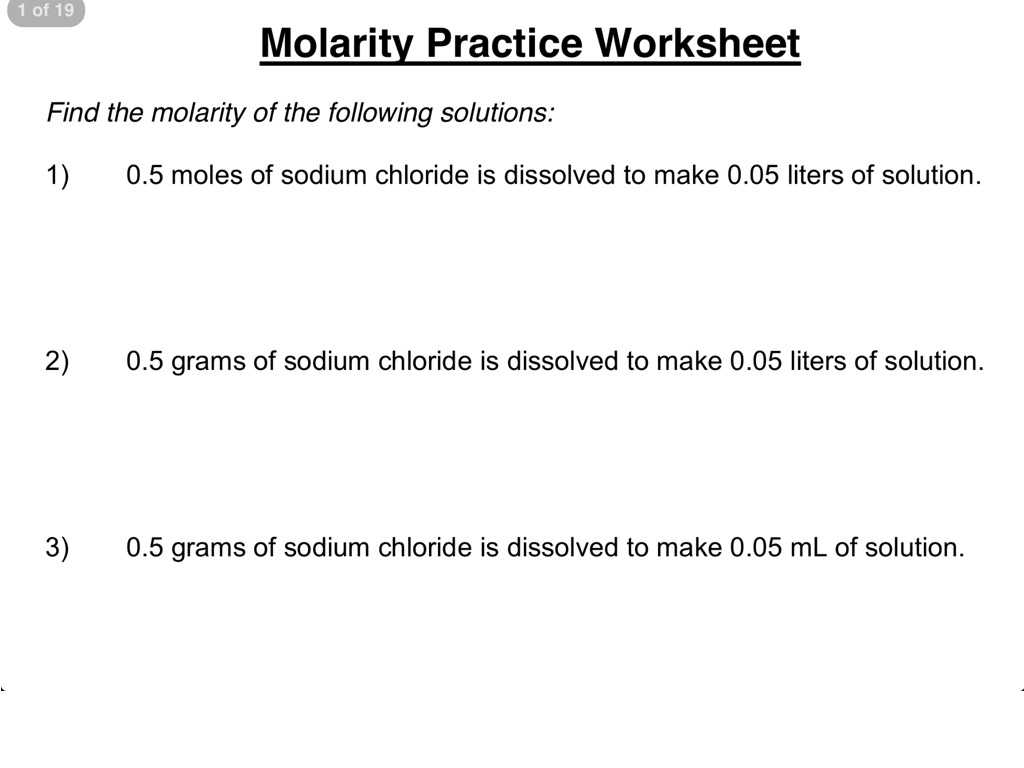 Sharkwater Video Worksheet Answers with Molarity Calculation Worksheet Id 26 Worksheet