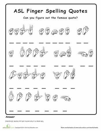 Sign Language Worksheets with 58 Best Sign Language Images On Pinterest