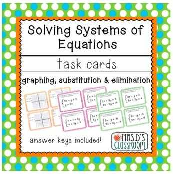 Solving Systems Of Equations by Elimination Worksheet Pdf as Well as 146 Best Systems Of Equations Images On Pinterest