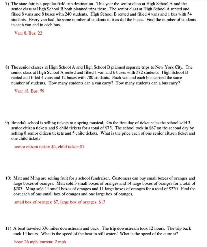 Solving Systems Of Equations by Substitution Word Problems Worksheet with System Equations Word Problems Worksheet