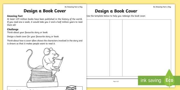 Stem Activity Worksheets or Design A Book Cover Worksheet Activity Sheet Amazing Fact