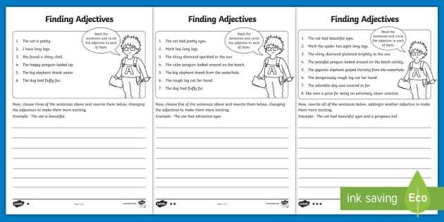 Survival Signs Worksheets and Finding Adjectives Worksheet Activity Sheet Finding Verbs