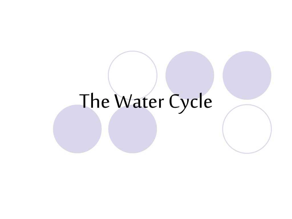 The Water Cycle Worksheet Answer Key and Ppt the Water Cycle Powerpoint Presentation Id