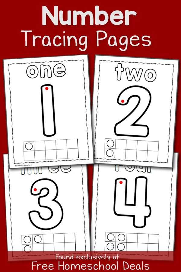 Tracing Worksheets for 3 Year Olds and Free Number Tracing Pages Instant Download