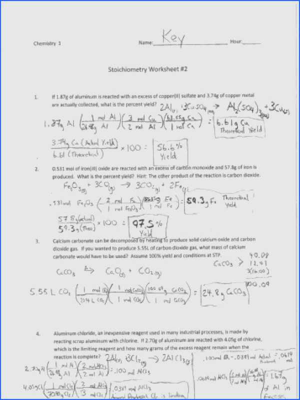 Types Of Chemical Reactions Worksheet and Types Chemical Reactions Worksheet