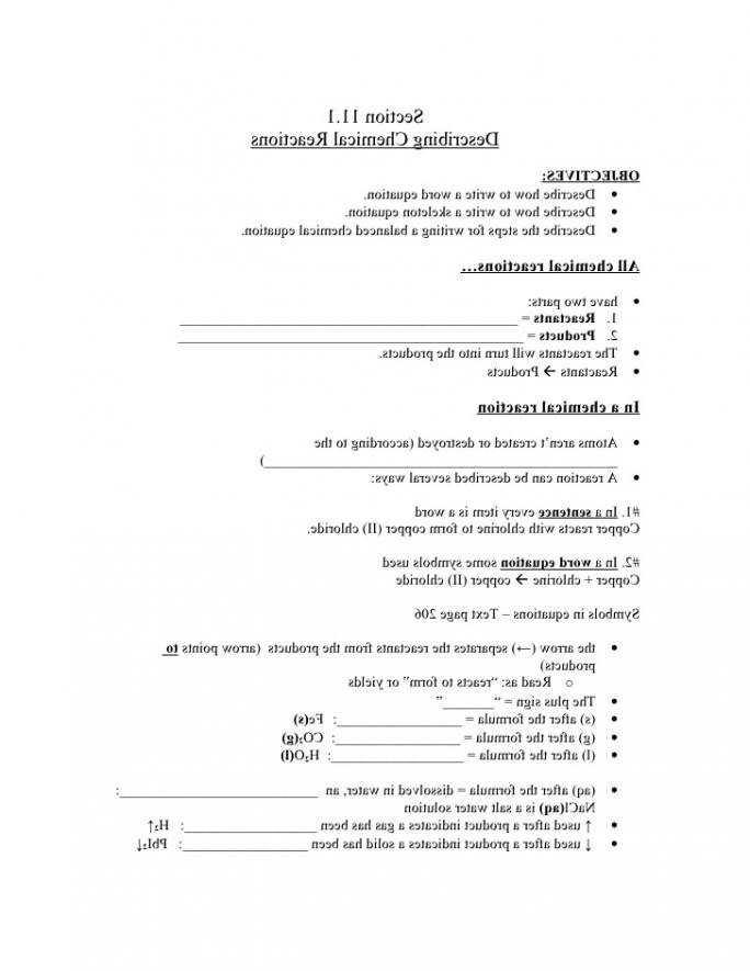Types Of Chemical Reactions Worksheet with Types Chemical Reaction Worksheet Ch 7 Answers Awesome 36 New S