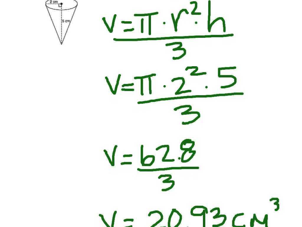 Volume Of A Cylinder Worksheet Also Multiplying