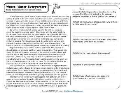 Water Water Everywhere Worksheet Answers as Well as 1662 Best Science Images On Pinterest