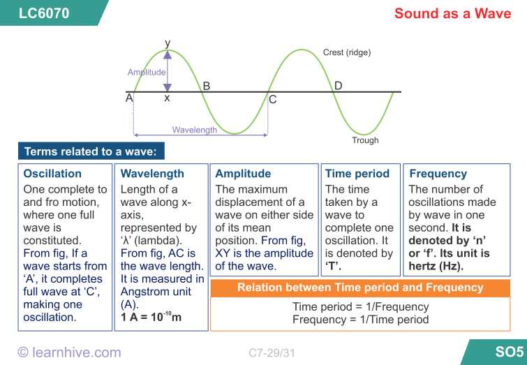 Waves sound and Light Worksheet Answer Key with Learnhive