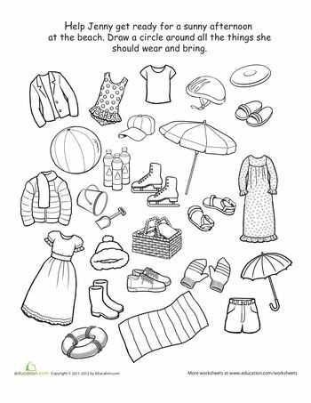 Weather Worksheets for 1st Grade Also 44 Best Seasons and Clothes Images On Pinterest