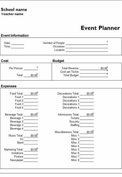 Wedding Planning Worksheets Also event Bud Template Bud Worksheet Template event Bud