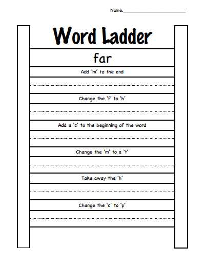 Word Ladder Worksheets for Middle School as Well as Word Ladder Short A Pdf Word Ladders Pinterest