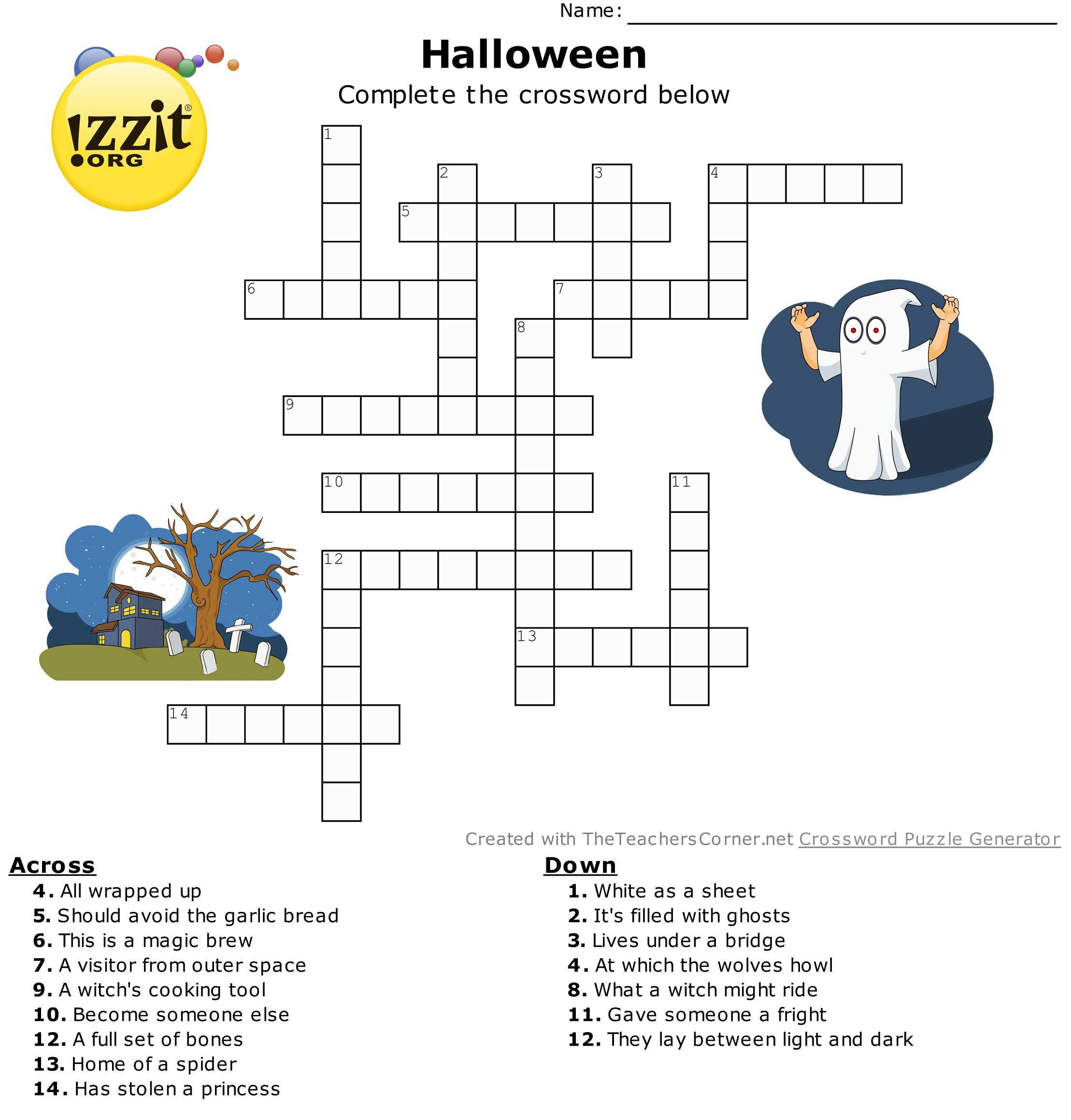 Worksheet Answer Finder with Crosswordn Puzzle Printable with Answers Worksheet Halloween