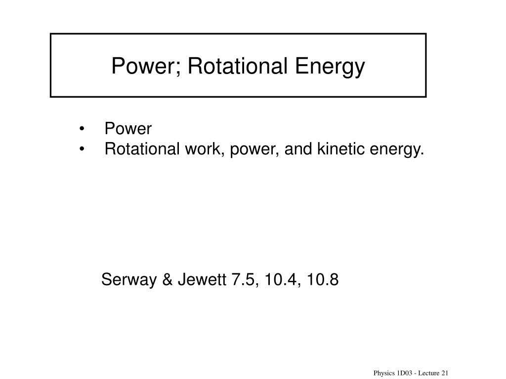 Worksheet Kinetic and Potential Energy Problems or Ppt Power Rotational Energy Powerpoint Presentation Id