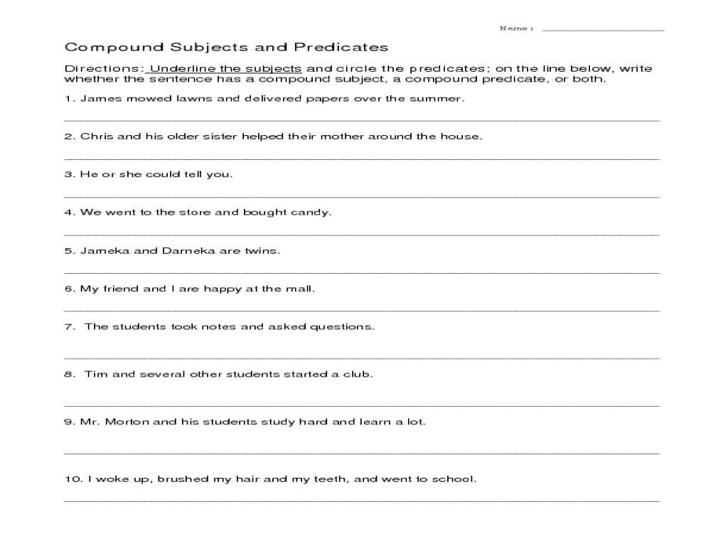 Worksheet Mole Problems or Subjects and Predicates Worksheet Gallery Worksheet for Ki