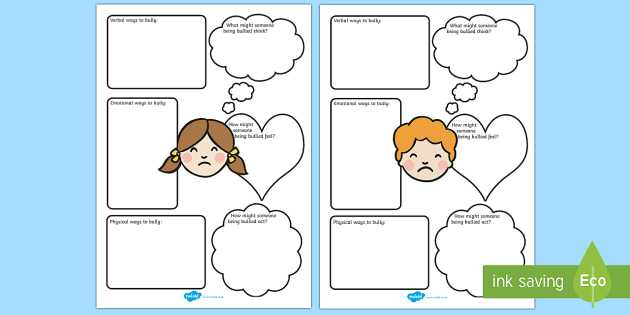Worksheets On Bullying for Elementary Students or Bullying Worksheets Bullying Bully Good Behaviour