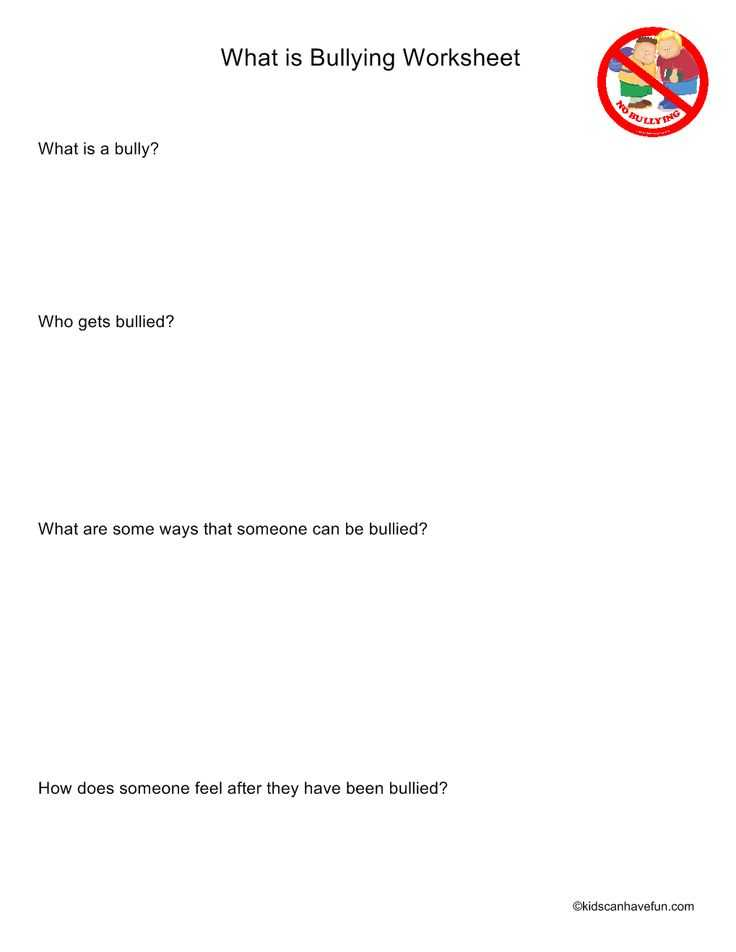 Worksheets On Bullying for Elementary Students together with 31 Best No Bullying Don T Bully Anti Bullying Posters Worksheets