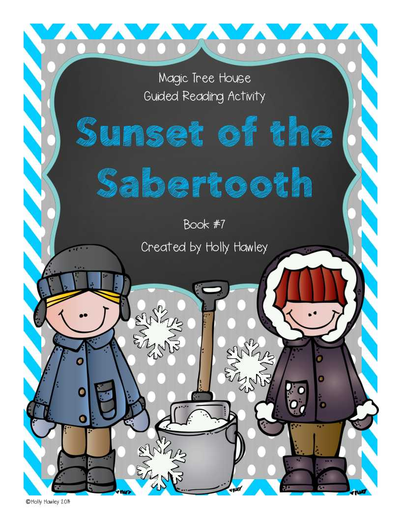 1st Grade Reading Comprehension Worksheets Multiple Choice or Sunset Of the Sabertooth A Guided Reading Activity Lesson