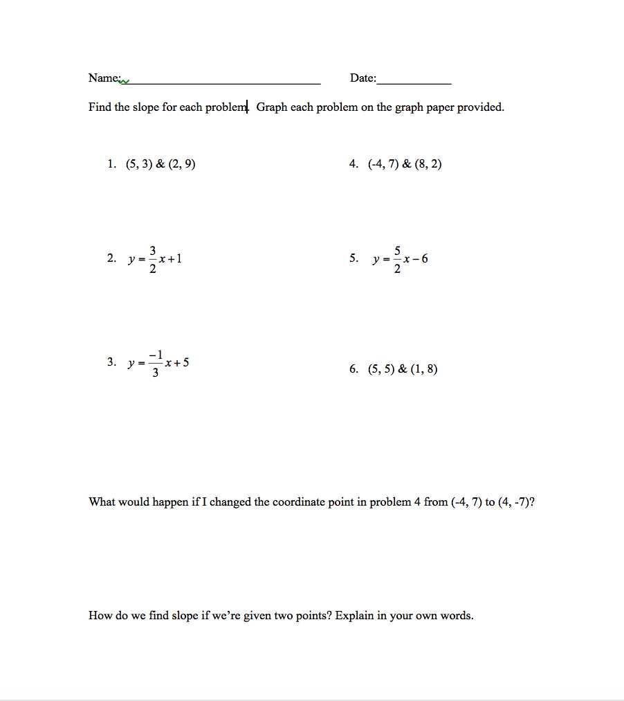 Algebra 1 Slope Worksheet Along with Confession I Like Worksheets Set the Hook