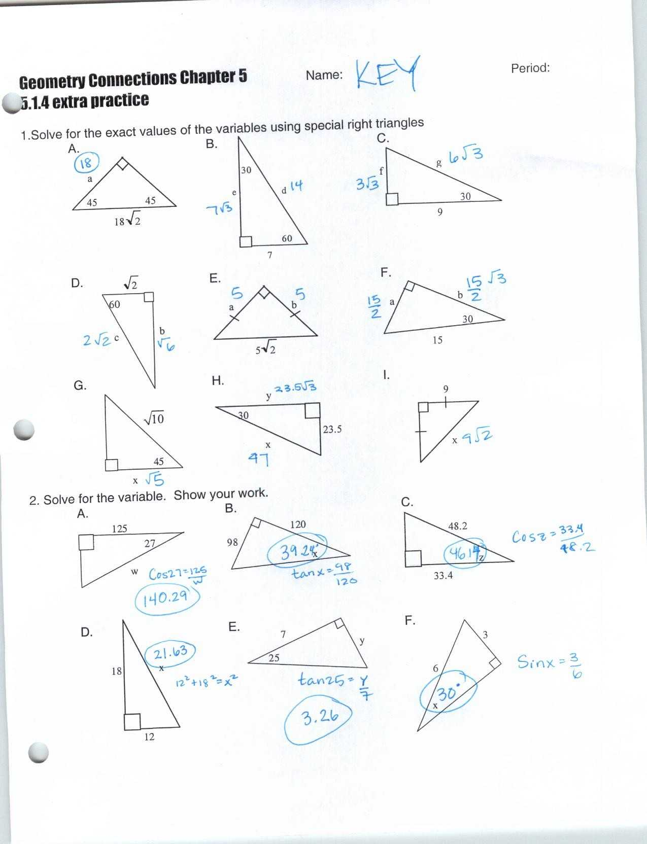 Bill Nye Light Optics Worksheet Answers with Special Right Triangles Worksheet Answers Inspirational 30 60 90